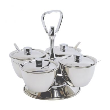 Revolving 3 Bowl Relish Server
