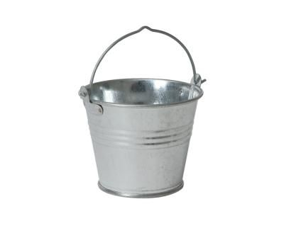 Galvanised Steel Serving Bucket 12.5cl Capacity