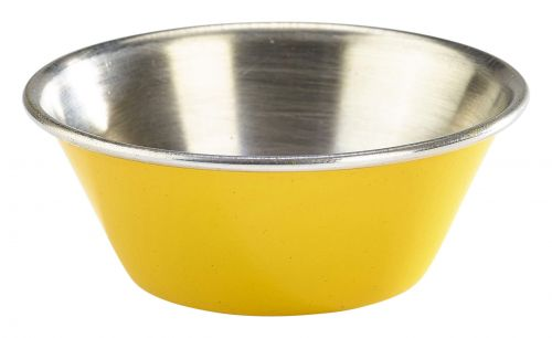 Genware Stainless Steel Yellow Coloured Ramekin 43ml (1.5oz)