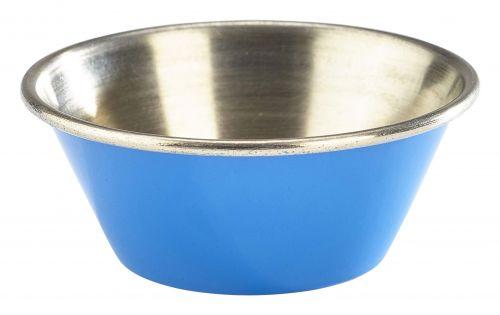 Genware Stainless Steel Blue Coloured Ramekin 43ml (1.5oz)