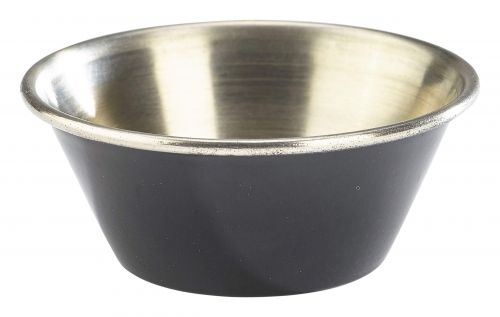Genware Stainless Steel Black Coloured Ramekin 43ml (1.5oz)