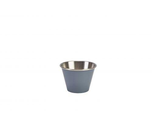 Genware Stainless Steel Grey Coloured Ramekin 71ml (2.5oz)