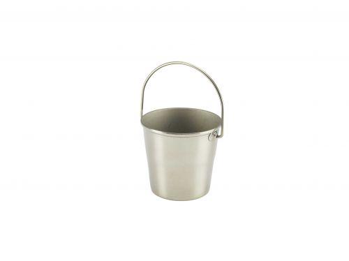 Stainless Steel Miniature Serving Bucket 4.5cm Dia x 4.3cm H (5cl/1.75oz)