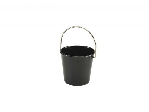 Black Miniature Serving Bucket 4.5cm Dia x 4.3cm H (5cl/1.75oz)