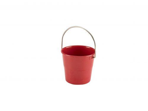 Red Miniature Serving Bucket 4.5cm Dia x 4.3cm H (5cl/1.75oz)