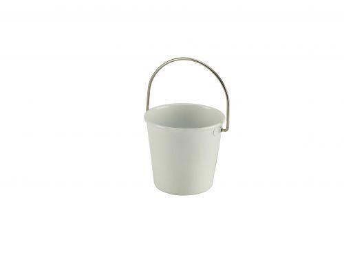 White Miniature Serving Bucket 4.5cm Dia x 4.3cm H (5cl/1.75oz)