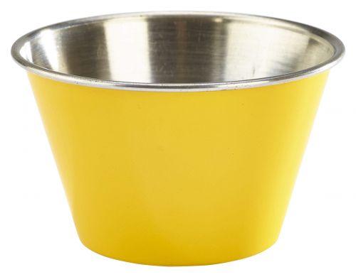 Genware Stainless Steel Yellow Coloured Ramekin 170ml (6oz)