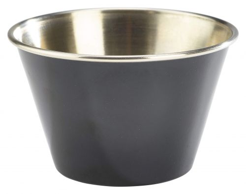 Genware Stainless Steel Black Coloured Ramekin 170ml (6oz)