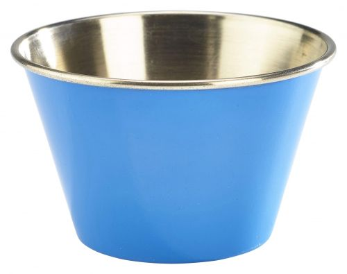 Genware Stainless Steel Blue Coloured Ramekin 170ml (6oz)