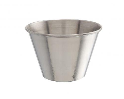 Genware Plain Stainless Steel Ramekin 227ml (8oz)