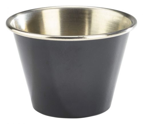 Genware Stainless Steel Black Coloured Ramekin 71ml (2.5oz)