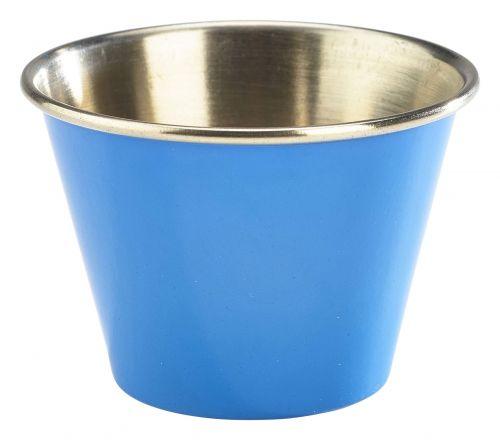 Genware Stainless Steel Blue Coloured Ramekin 71ml (2.5oz)