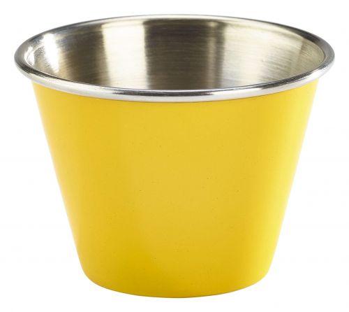 Genware Stainless Steel Yellow Coloured Ramekin 71ml (2.5oz)