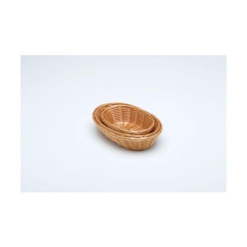 Oval Polywicker Basket 228mm x 152mm x 63mm