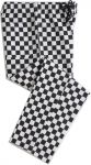 Dennys Unisex Black/White Large Check Trousers